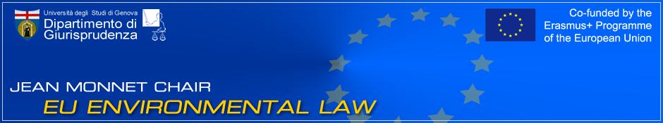 EU environmental law - Jean Monnet Chair